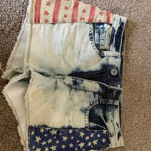 American denim shorts